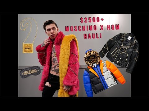 BIGGEST Moschino x H&M collaboration haul with RARE limited pieces