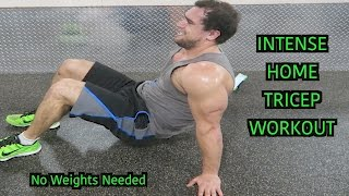 Intense 5 Minute At Home Tricep Workout