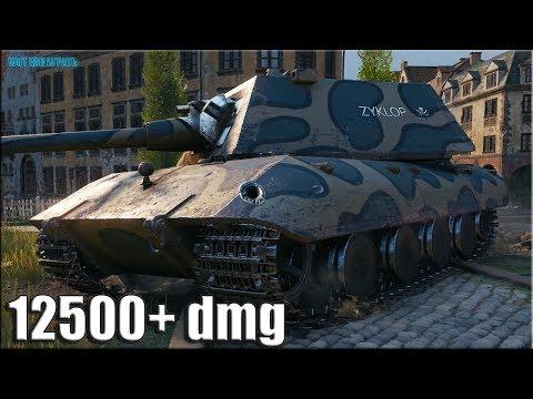 За такой бой можно и ТРИ ОТМЕТКИ ✅ 12500 урона ✅ World of Tanks E 100 лучший бой