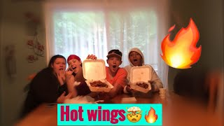 Hot Wings Challenge😳🥵