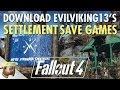 Download EvilViking13's #Fallout 4 #Settlement save games! (PC)