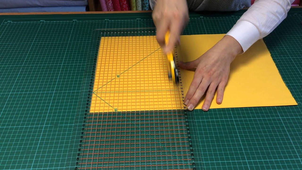 Patchwork şerit cetveli ile nasıl kumaş şeritleri kesilir ...