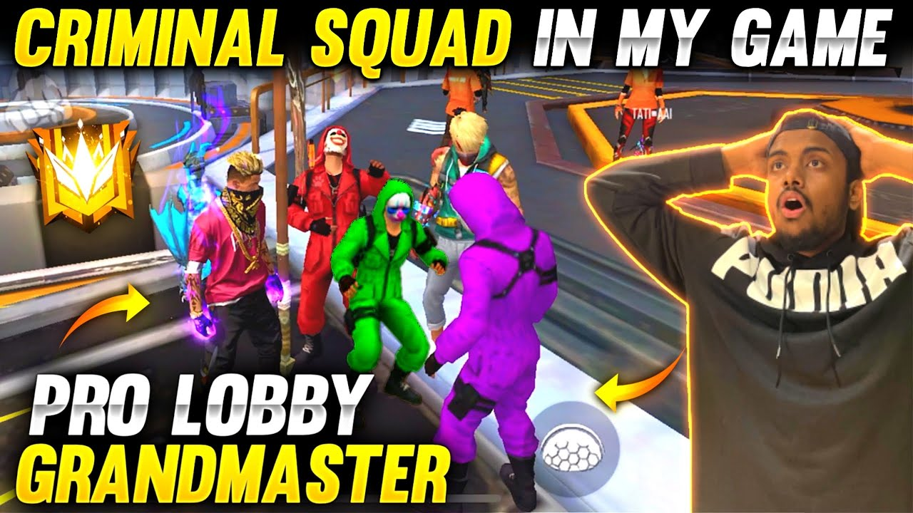 Criminal Squad Laughing On Me 😡 In Rank Game Grandmaster Looby Revenge?  😱 - Garena Free Fire
