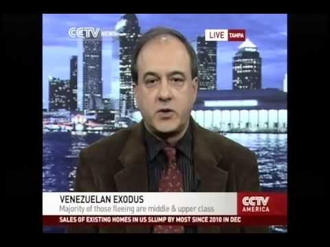 Interview on Chinese Tv channel CCTV about Venezuela