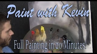 Complete Oil Painting in 20 minutes - Paint with Kevin Hill
