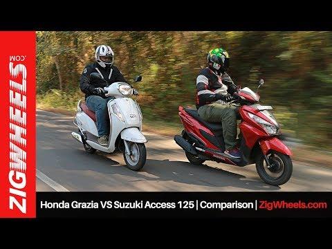 Honda Grazia VS Suzuki Access 125 | Comparison Review | ZigWheels.com