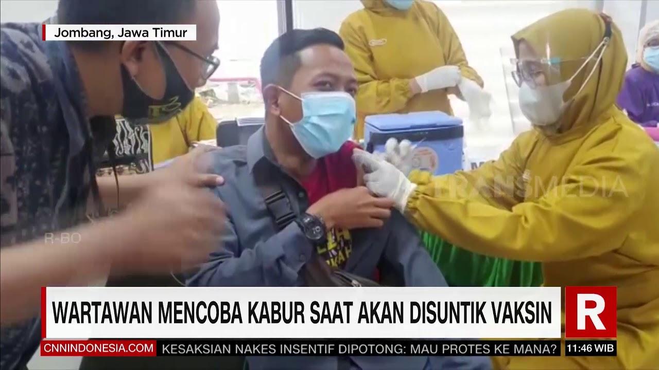 Wartawan Mencoba Kabur Saat Akan Disuntik Vaksin| REDAKSI SIANG (26/02/21)