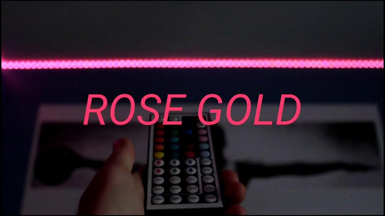 How To Make Rose Gold On Led Light Strips Custom Diy Light Strip Colors 5 Youtube