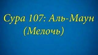 Ахьмад Гулиев Сура 107: Аль-Маун (Мелочь)