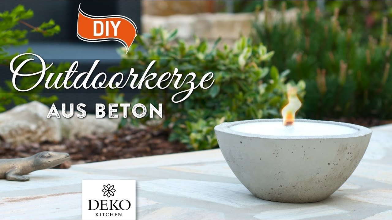 Diy gro e outdoor kerze aus beton selbermachen how to deko kitchen youtube - Youtube deko kitchen ...