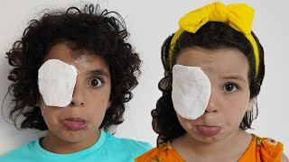 Bandage on the eyes_قصة تعليمية للأطفال