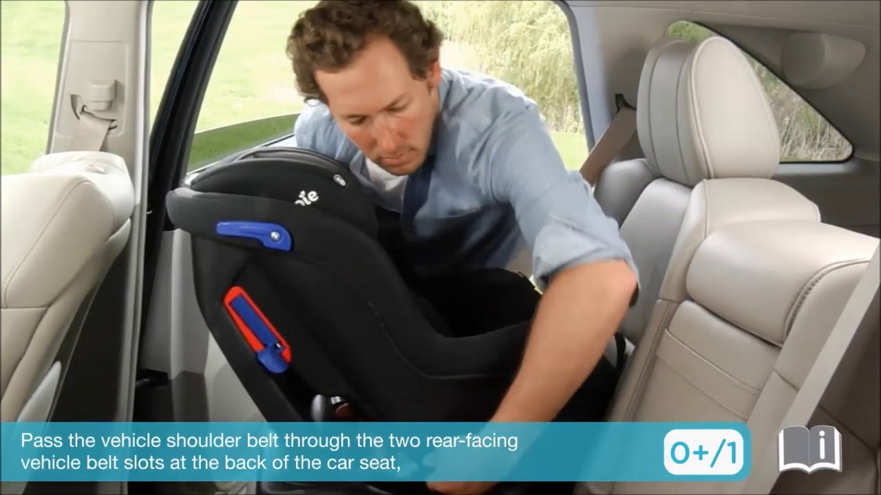 Smyths Toys Joie Car Seat Installation Group 0 1 Youtube