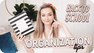Back to School Organization Tips!