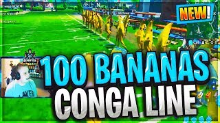 100 BANANA SKIN CONGA // CUSTOM GAMES IN FORTNITE