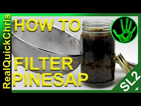 Pine tree sap filtering an easy how. you can use it for diy fatwood