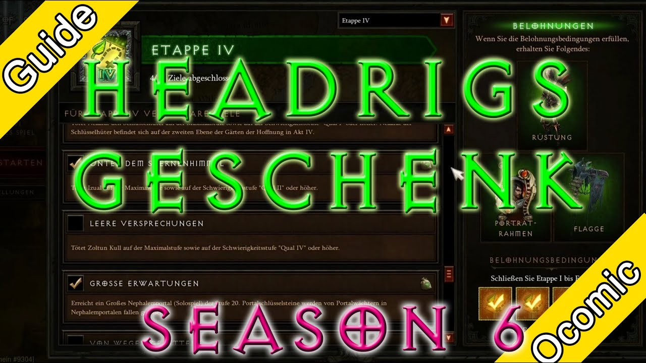 Diablo 3 - Haedrigs Gift, was ist neu in Season 6? [Deutsch] [HD ...