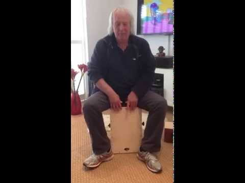 Gerry Conway playing the ASTF 2 cajon