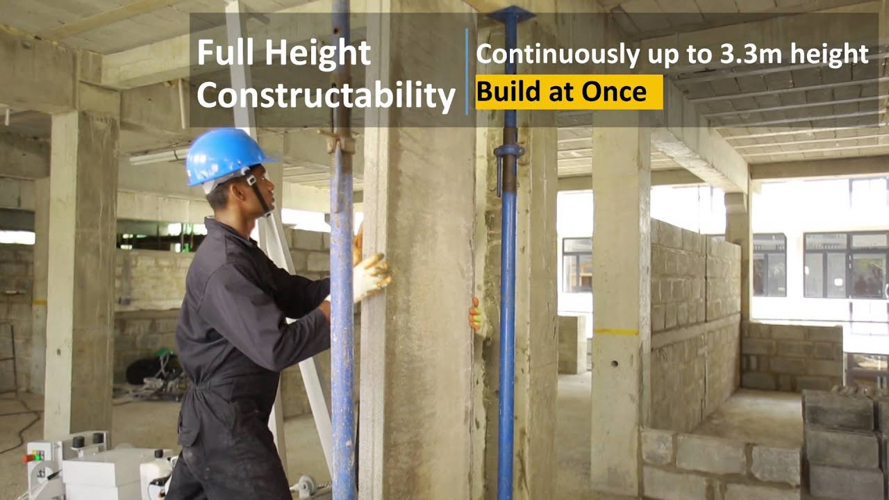 Icc Acotec Precast Wall Panel Installation Youtube