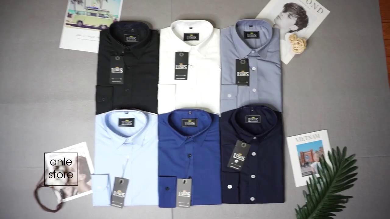 Áo sơ mi nam đẹp công sở LOUIS dài tay form Hàn Quốc cotton lụa cao cấp xuất khẩu – Anle Store