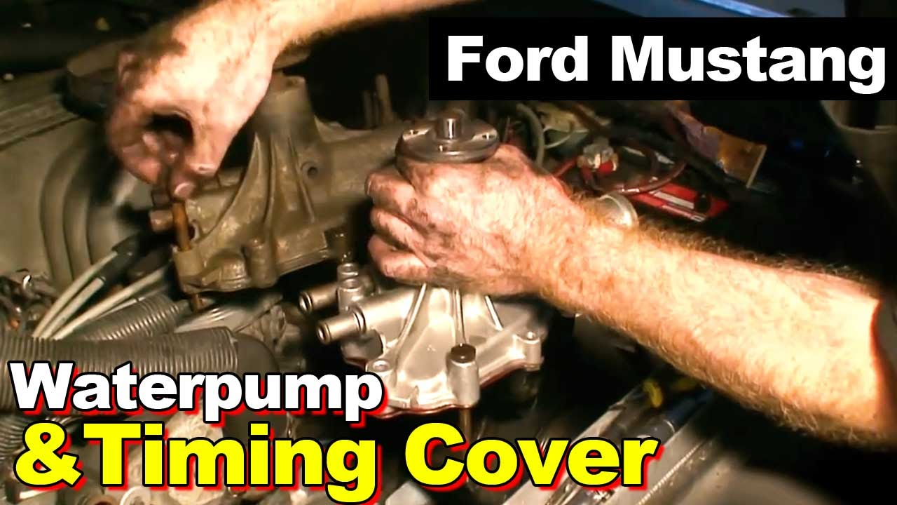 1989 Ford Mustang 50 302 Timing Cover Gasket And Water Pump Youtube Engine Diagram