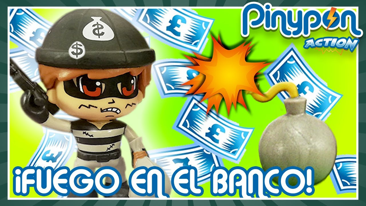 FUEGO en el BANCO de Pinypon Action 🔥💵 ¡Los LADRONES provocan un INCENDIO!