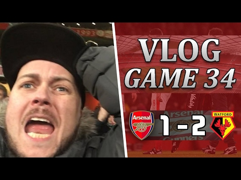 Arsenal 1 v 2 Watford | I Have Had Enough Of Wengers Bullsh*t| Matchday Vlog | Game 34