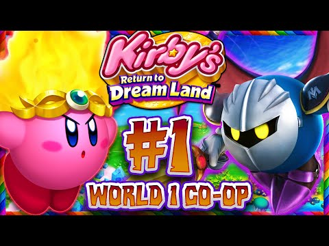 Kirby Returns to Dreamland - Part 1 - Co Op World 1 Cookie Country (1080p 60FPS)