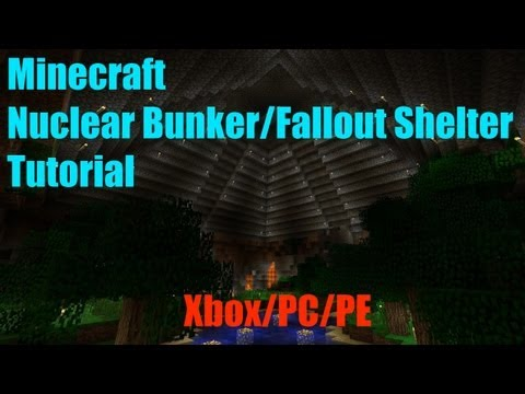 Minecraft - How To Make A Nuclear Bunker/Fallout Shelter - Xbox/PC/PE - (Area 51 Approved!)