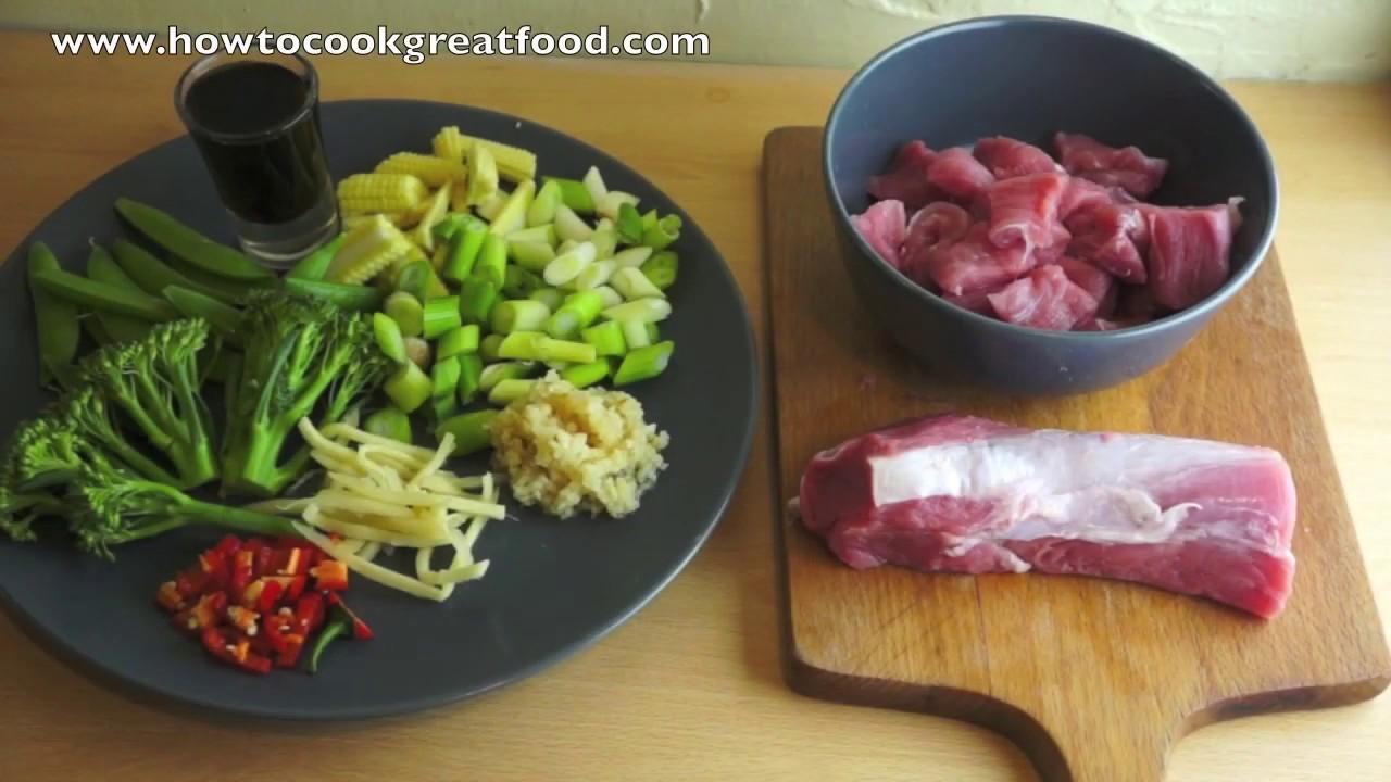 Chinese pork vegetables stir fry recipe youtube forumfinder Gallery