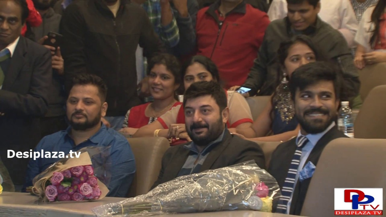 Dhruva Premier launch by Ram Charan and Aravind Swamy in Dallas