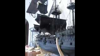 Black Pearl model pirate ship (modello completamente autocostruito)