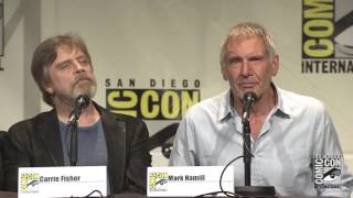 Harrison Ford, Mark Hamill, Carrie Fisher appear in Star Wars  The Force Awakens panel at SDCC 2015