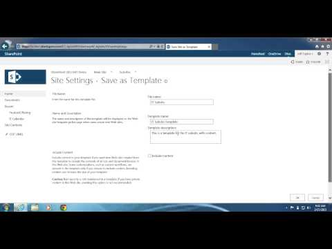 SharePoint 2013: How to save your site as a template