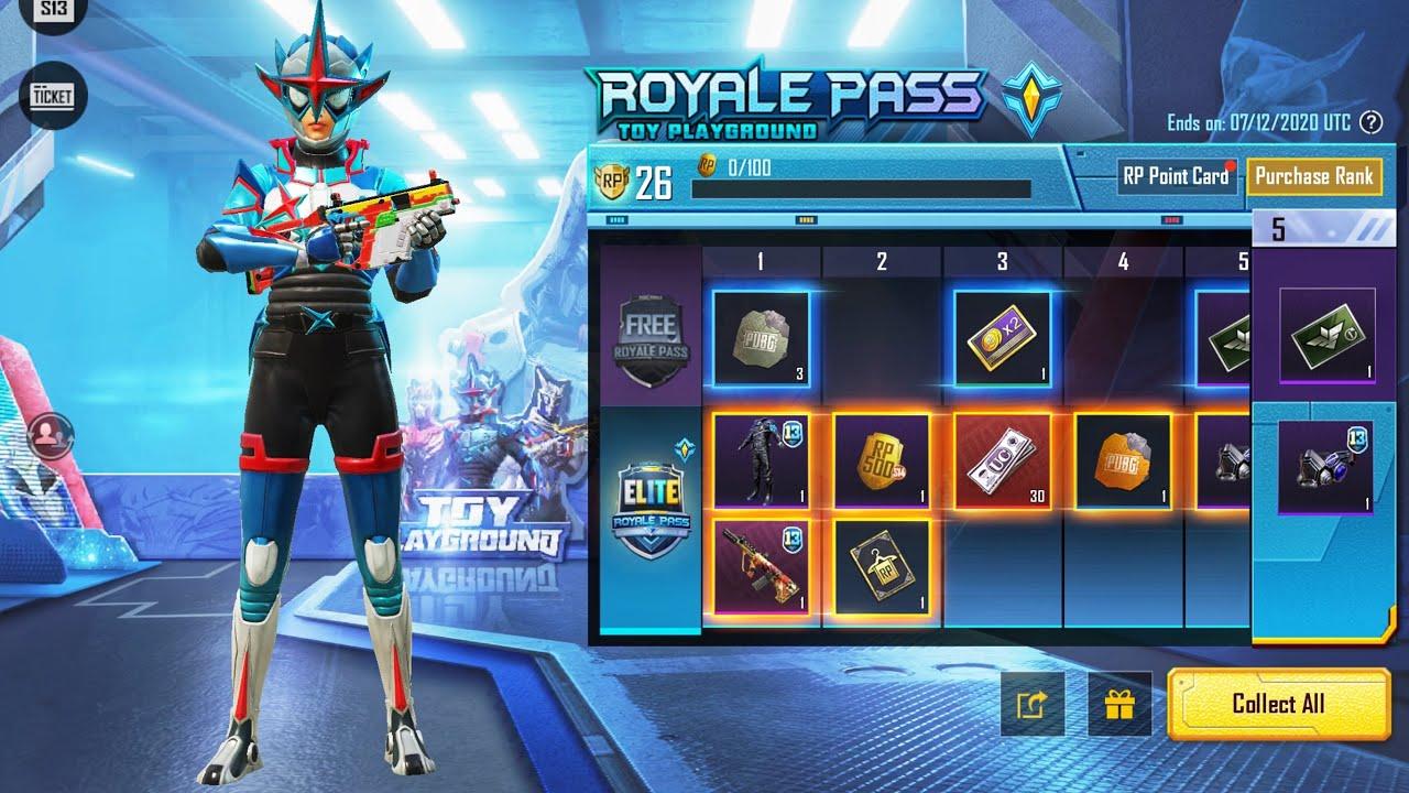 Download Open Royal Pass Season 13 Full 100 Level   Pubg Mobile