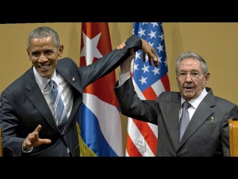 Watch President Obama and Raul Castro's Awkward Handshake in Cuba