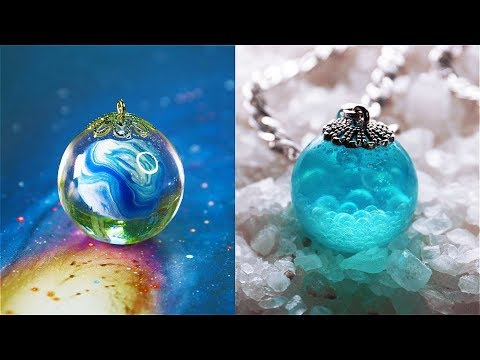 10 CHEAP AND EASY DIY JEWELRY IDEAS 5 Resin Accessories FAIRY PENDANTS MADE OUT OF AN EPOXY RESIN