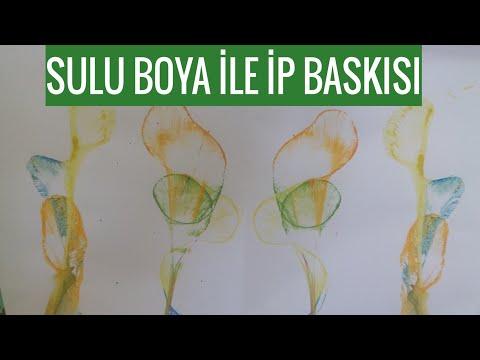 Sulu Boya İp Baskısı Nasıl Yapılır | Watercolor Painting İdeas