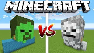 ZOMBIE HOUSE vs SKELETON HOUSE / Minecraft battle