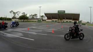 Motorcycle training in the rain - Part 1