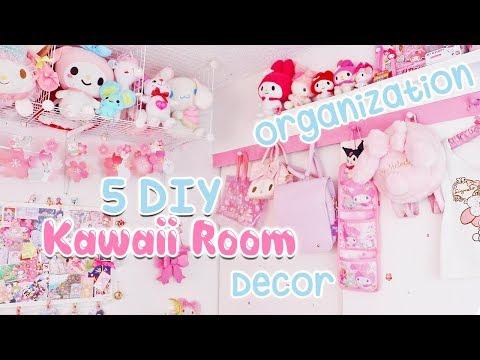 5 DIY Kawaii Room Organization Decor Tips 2019 | Subtitulado |