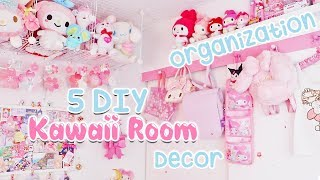 5 DIY Kawaii Room Organization Decor Tips 2019 | subtitulado |