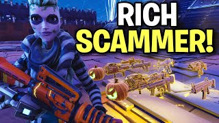 The richest kid ever goes insane after I did this...🤣 (Scammer Get Scammed) Fortnite Save The World