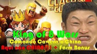 Clash of Clans - Comando Caveira x China - Aqui não China! + Farm Bônus