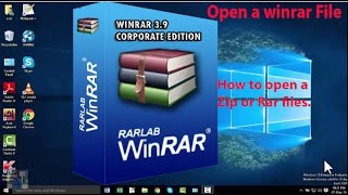 How to open a Zip file, Rar file or winrar files   Password protected zip file for windows.