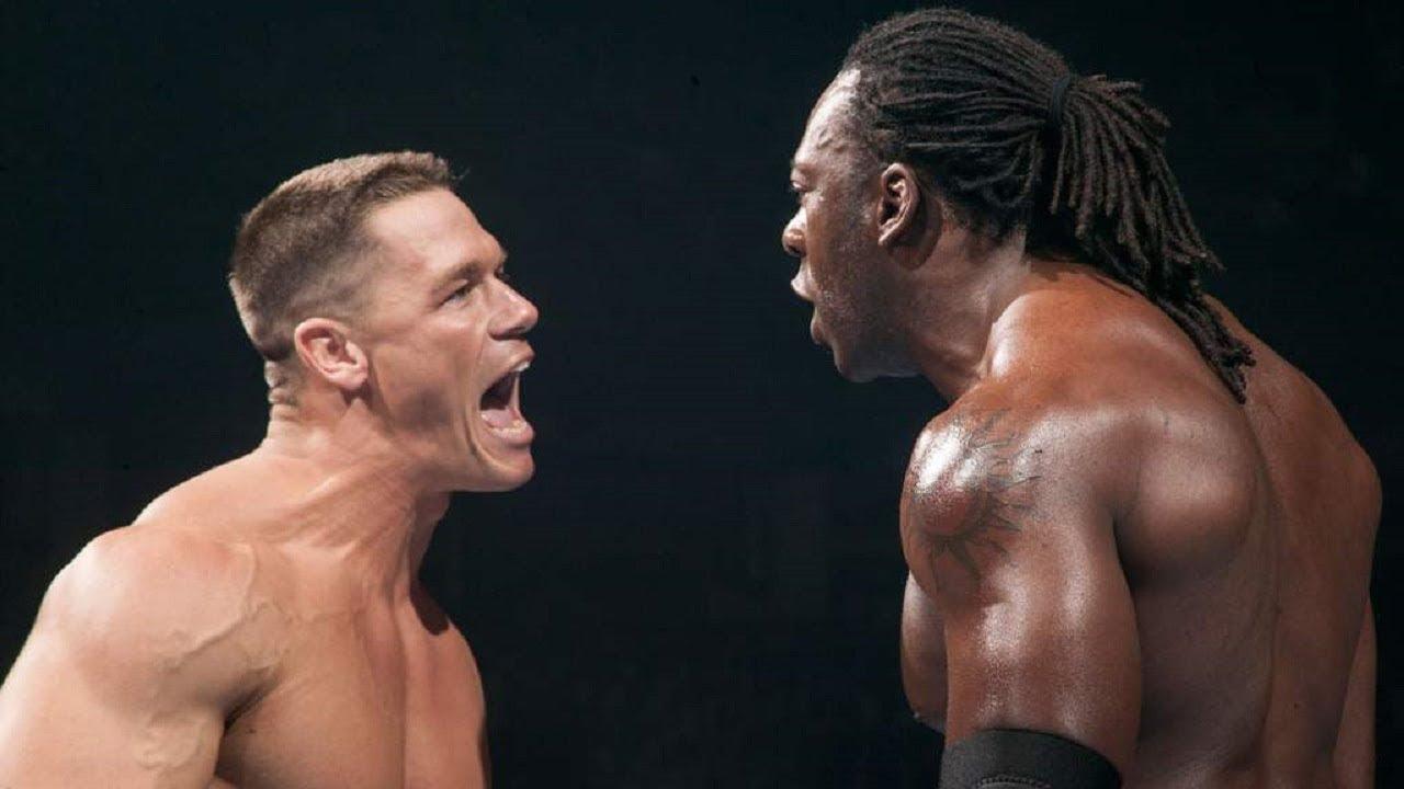 John Cena VS Booker T Men's Championship Match WWE NO MERCY 2004 - YouTube
