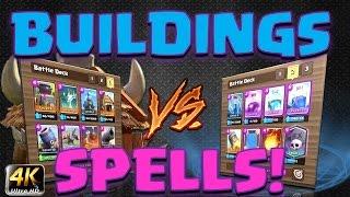 Clash Royale - Challenge! *BUILDINGS V's SPELLS!*