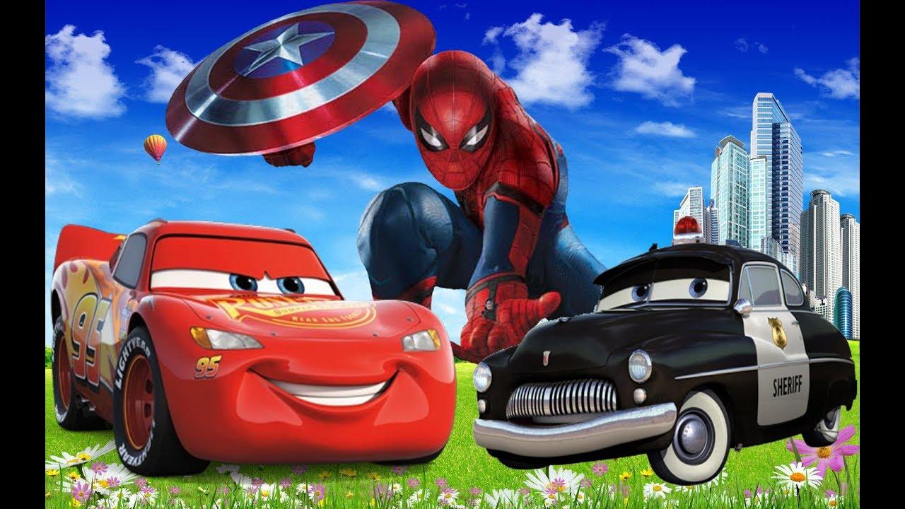 DISNEY Cars & Spiderman POLICE - VIDEO INFANTIL