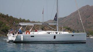 Путешествие, яхта Hanse 445 Турция море друзья яхтинг в средиземном море