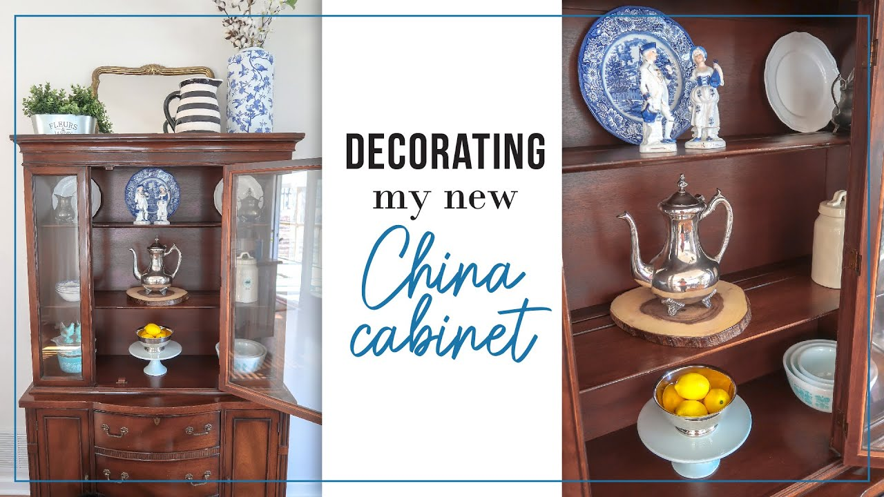 China Cabinet Decor Ideas Styling My New Hutch Thrifted Decorate With Me Youtube