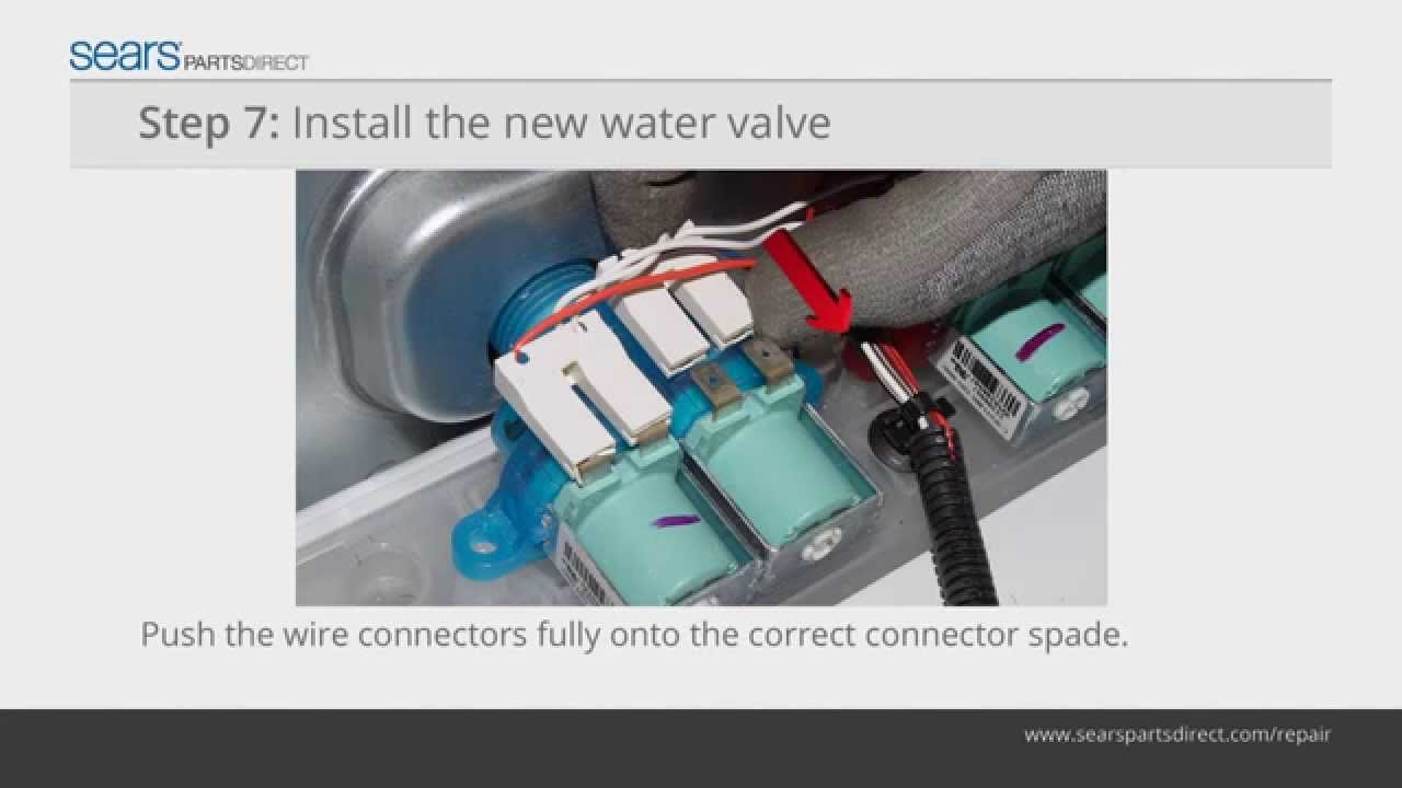how to install a water inlet valve on a top load washer video instructions from sears partsdirect [ 1280 x 720 Pixel ]